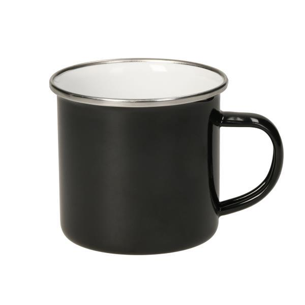 Emaille-Becher ´Cozy´, black