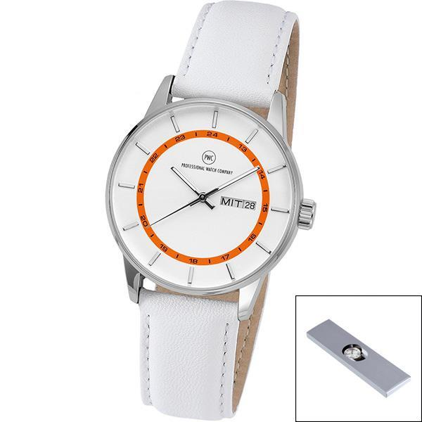 Armbanduhr ´Vectory Classic Damen silber/orange´