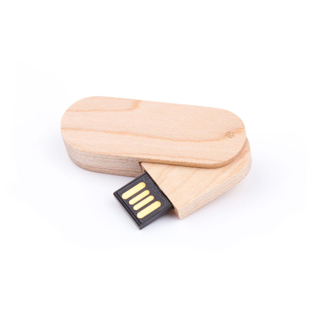 USB Stick Holz Swivel 512 MB